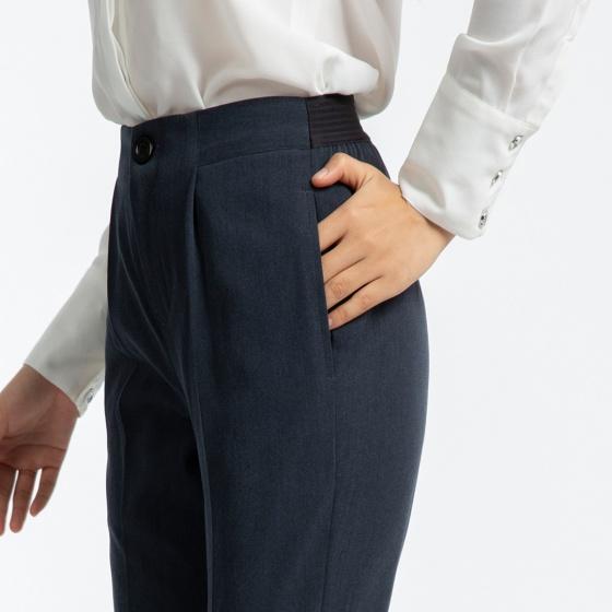 Quần Baggy Nữ Quần Tây Công Sở Thời trang thiết kế Hity PAN040 (xám granite)