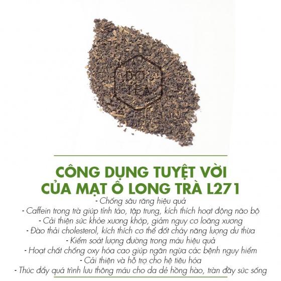 Mạt ô long trà gói 500g l271 dotea thơm nồng thiên mùi lửa sắc nước vàng trong