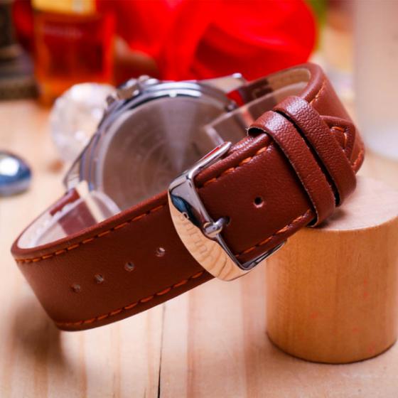 Đồng hồ nam dây da Julius Hàn Quốc JAH-078A Nâu