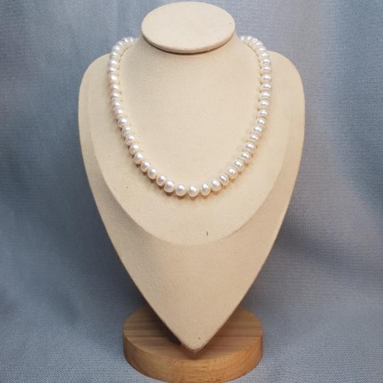 Chuỗi vòng cổ ngọc trai cao cấp-Chuỗi Đơn- Trang sức Cô Tấm - PEARL DAY - COTAM2602 +Tặng kèm bông tai nụ bạc KT2601