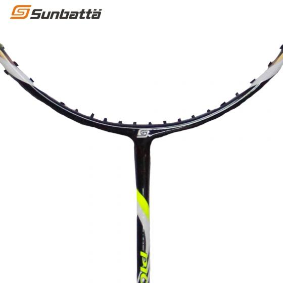 Combo vợt cầu lông không dây Sunbatta Pioneer 2700 vàng đen và ống cầu thi đấu Sunbatta SU-30