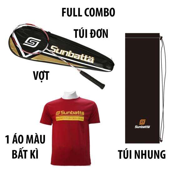 Bộ sản phẩm 1 Vợt cầu lông Sunbatta SU-FORWARD 1200 và 1 Áo Sunbatta SMT 635 màu bất kì