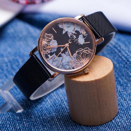 Đồng hồ nữ mặt kính saphire chính hãng Julius Star Hàn Quốc JS-033C.