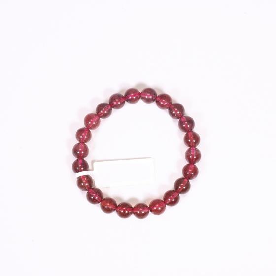 Vòng tay đá thạch anh ưu linh dâu đỏ đậm size hạt 7mm mệnh hỏa, thổ - Ngọc Quý Gemstones