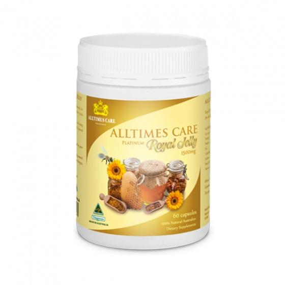 Thực phẩm bảo vệ sức khỏe Sữa ong chúa Alltimes Care (Hộp 60 viên) + Tặng 1 ly sứ