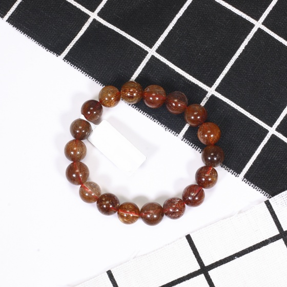Vòng tay đá thạch anh tóc đỏ 11mm mệnh hỏa, thổ - Ngọc Quý Gemstones