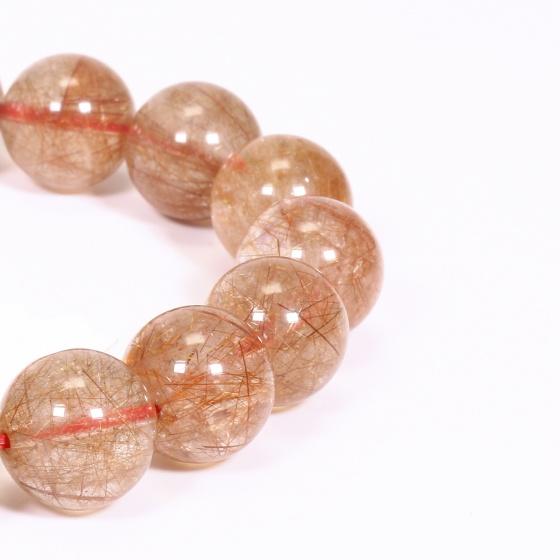 Vòng tay đá thạch anh tóc đỏ 12mm mệnh hỏa, thổ - Ngọc Quý Gemstones
