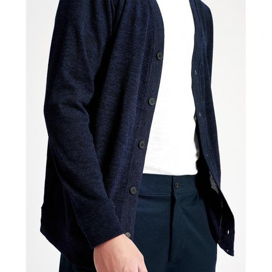 Áo khoác nam The Cosmo CLEMMY CARDIGAN màu xanh navy TC1023030R5NA