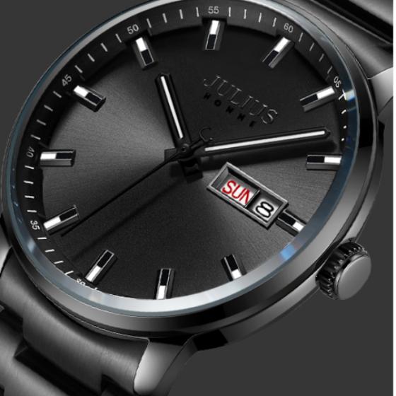 Đồng hồ nam Julius Hàn Quốc chính hãng JAH-114A Bạc