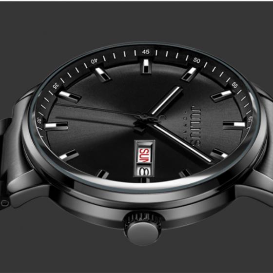 Đồng hồ nam Julius Hàn Quốc chính hãng JAH-114B Bạc mặt xanh