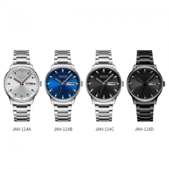 Đồng hồ nam Julius Hàn Quốc chính hãng JAH-114D Đen