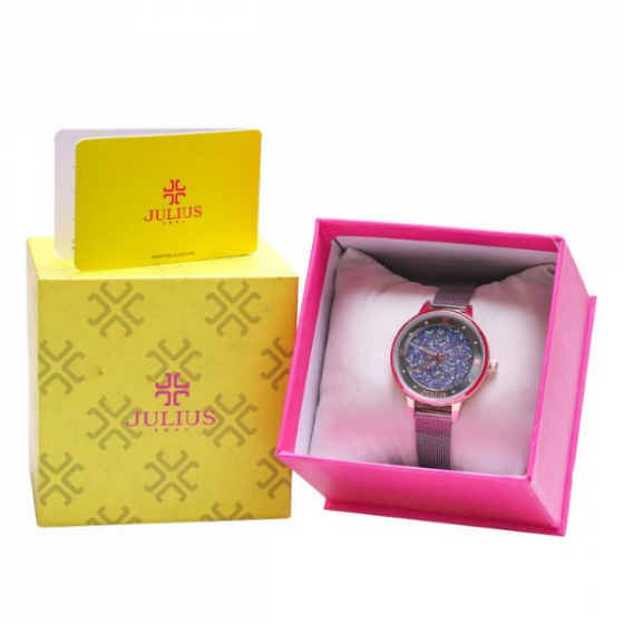 Đồng hồ nữ dây kim loại chính hãng Julius Hàn Quốc JA-1216C