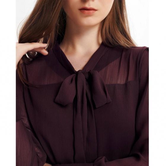 Đầm nữ The Cosmo GARNET BOW DRESS màu nâu TC2005227PL