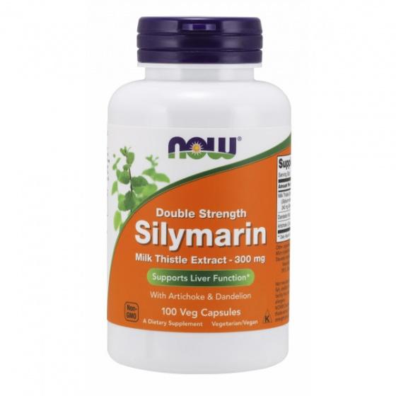 Thực phẩm bổ sung bảo vệ tế bào gan hỗ trợ điều trị xơ gan, viêm gan NOW silymarin milk thistle 300mg 100 viên [QC-Vneshop]