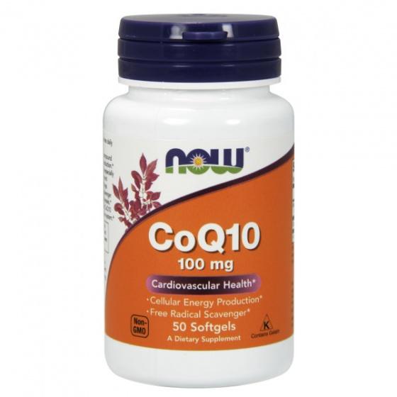 Thực phẩm bổ sung phòng ngừa các bệnh tim mạch, chống lão hóa, suy giảm trí nhớ NOW COQ10 100mg vitamin E 50 Viên
