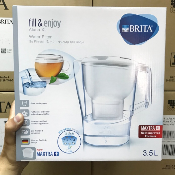 Bình lọc nước Brita Aluna XL White - 3.5L (kèm Maxtra Plus)