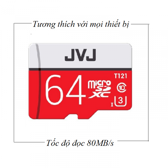 Thẻ nhớ JVJ 64G Pro U3 Class 10 - Chuyên dụng CAMERA