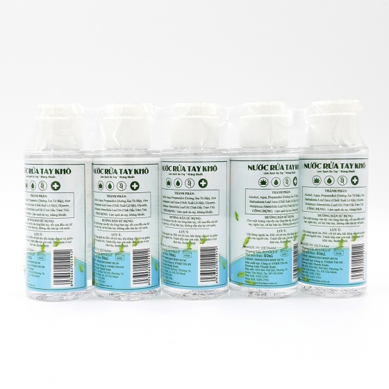 Set 5 chai nước rửa tay khô 80ml BIYOKEA