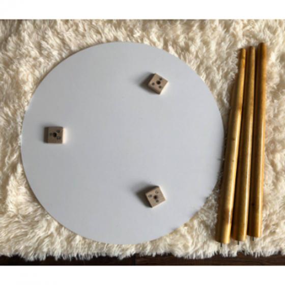 Bàn trà sofa mặt tròn