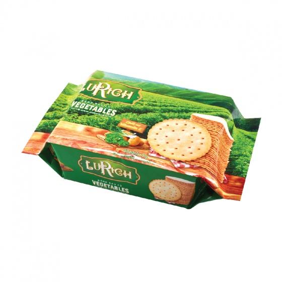 Bánh crackers rau củ Lurich khay 150 gram Bibica
