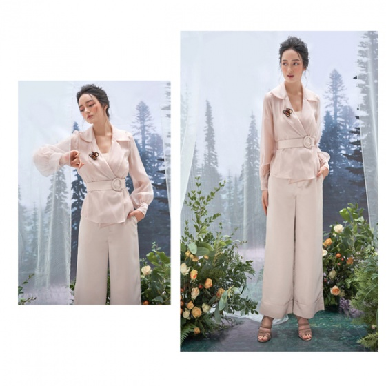 Áo kiểu tơ màu be HeraDG - WAK19010