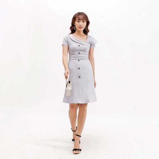 Váy đầm thời trang Eden tay cách điệu - D393