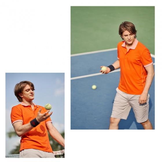 Áo polo nam ( Slimfit) màu cam DGC - SAP1908M
