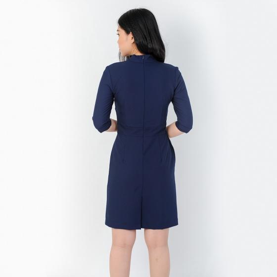 Đầm công sở thời trang Eden tay lỡ - D384