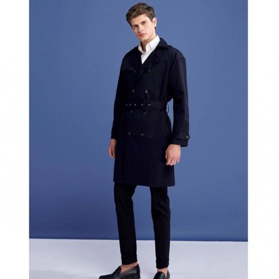 Áo khoác nam The Cosmo Henry Trench Coat màu đen TC1023059BA
