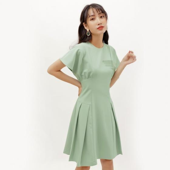 Đầm xòe thời trang Eden tay cánh dơi  - D378