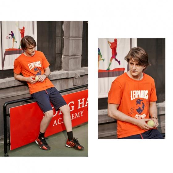 Áo phông nam ngắn tay ( regularfit) màu cam DGC - SAT1907M