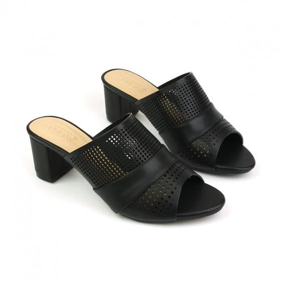Guốc da thời trang êm chân Sunday GG13 màu đen