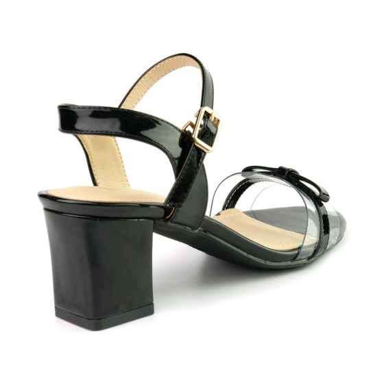 Sandal đế vuông êm chân Sunday DV46 màu đen