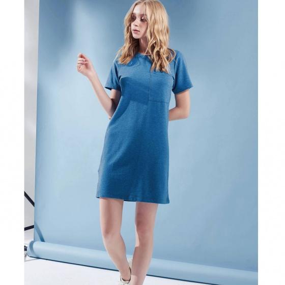 Đầm suông nữ The Cosmo KINSLEY DRESS màu xanh dương TC2005224BL
