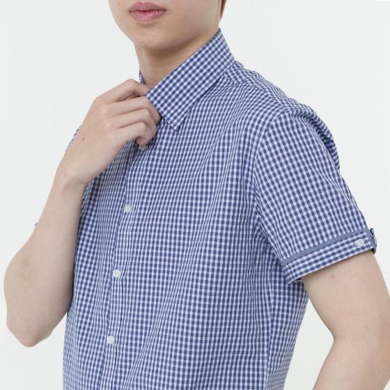 Áo sơ mi nam tay ngắn The Shirts Studio Hàn Quốc 42F2113BL