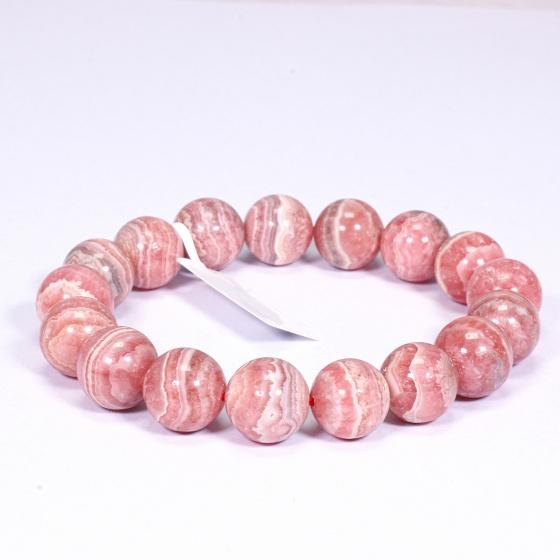 Vòng tay đá đào hoa size hạt 12mm mệnh hỏa, thổ - Ngọc Quý Gemstones
