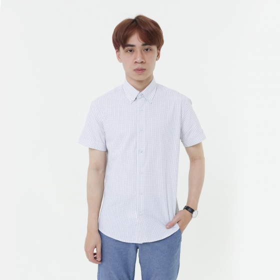 Áo sơ mi nam tay ngắn The Shirts Studio Hàn Quốc 45F6123GY
