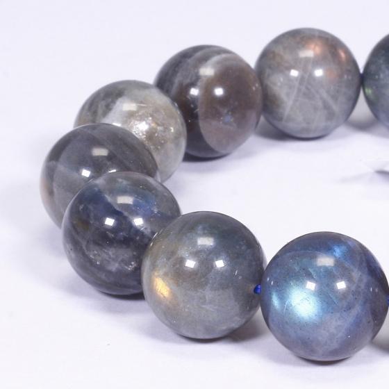Vòng tay đá xà cừ xám size hạt 16mm - Ngọc Quý Gemstones
