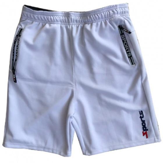 Quần short thể thao nam màu trắng lưng thun hiệu dokafashion - BLACK SOT01 - tặng Khẩu trang Chống nắng và Bụi  DUI204