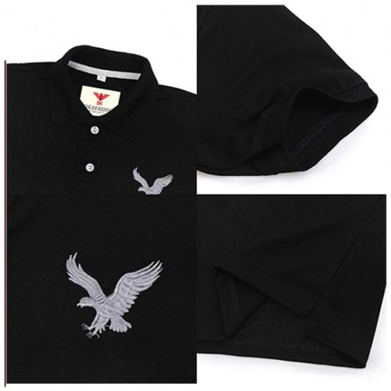 Combo 3 áo phông nam có cổ polo dokafashion màu đỏ, đen, xanh cv tặng 5 khẩu trang cotton 3 lớp chống nắngnDB3KT5