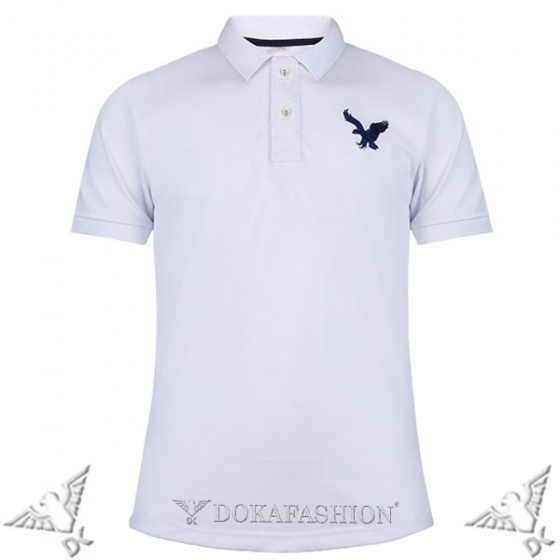 Combo 3 áo phông nam có cổ polo dokafashion màu trắng, đen, xanh đen tặng 5 khẩu trang cotton 3 lớp chống nắng DB3KT5