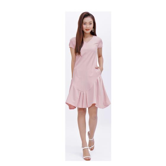 Đầm suông thời trang Eden cổ tim đuôi cá  - D372