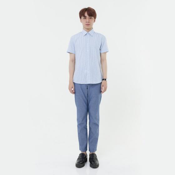 Áo sơ mi nam tay ngắn The Shirts Studio Hàn Quốc  42F2178BL