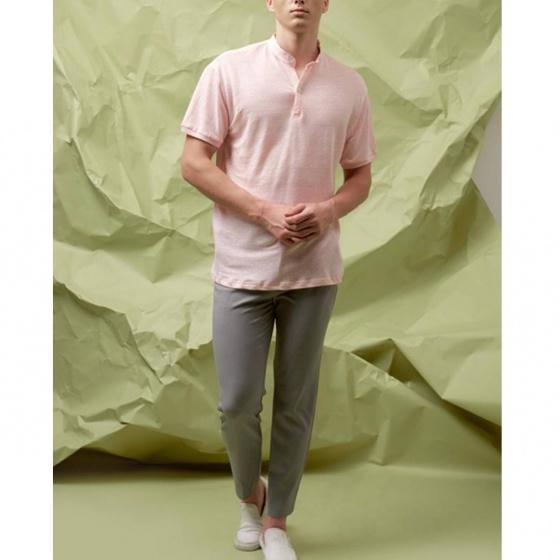 Áo thun nam The Cosmo Fresco T-shirt màu hồng TC1021070PI