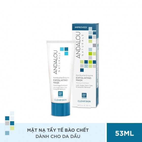 Mặt nạ tẩy tế bào chết cho da dầu Andalou Naturals Clear Skin Kombucha Enzyme Exfoliating Mask 53ml