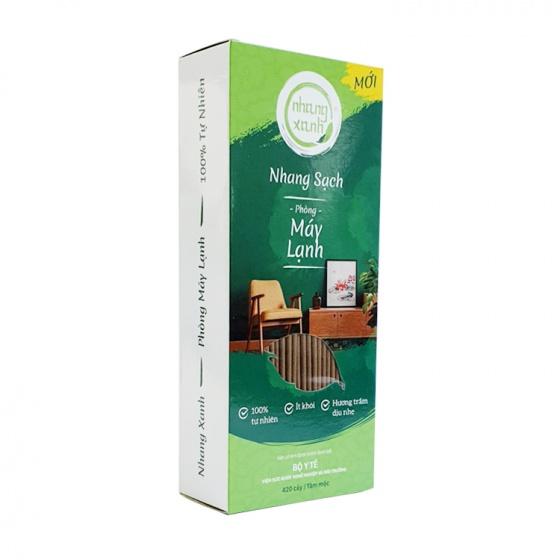 Nhang sạch phòng máy lạnh 20cm - 300g - ít khói - hương trầm dịu nhẹ - chân tăm mộc - nhang xanh