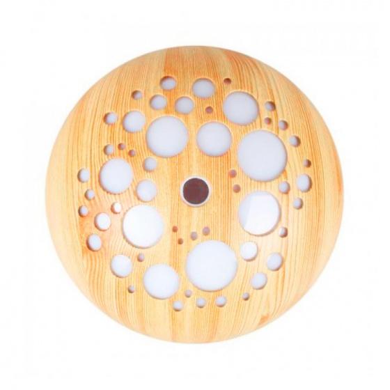 Máy khuếch tán ánh trăng vân gỗ sáng FX2040 + Tinh dầu sả chanh + Tinh dầu bưởi chùm Lorganic (10mlx2)
