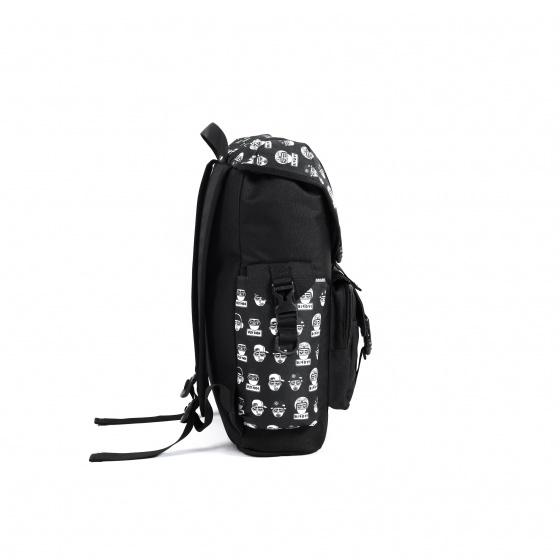 Balo thời trang Birdybag Streetstyle pattern black