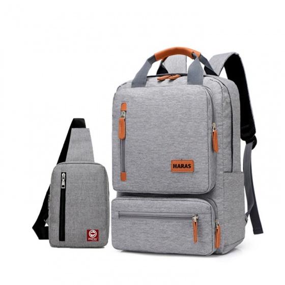 Combo balo laptop Hr262 và túi đeo chéo Haras Hr147