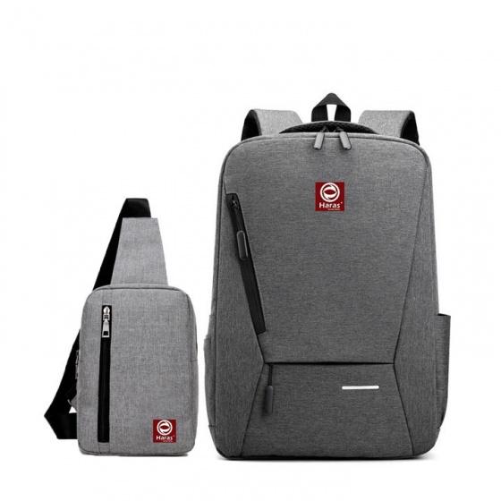 Combo balo laptop Hr263 và túi đeo chéo Haras Hr147